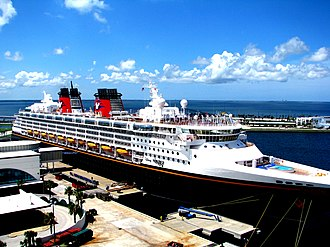 Wing T. Chao - Disney Wonder docked at Port Canaveral