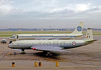 No. 216 Squadron RAF - De Havilland Comet C.2 operating a VIP flight from London Heathrow Airport in 1965