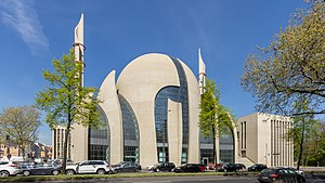 Cologne Central Mosque - Cologne Mosque in April 2015