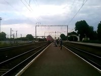 File:DS3-007 with train arrives Krolevets station.webm