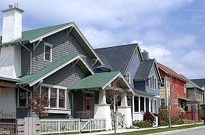 Prospect New Town - Traditional housing styles along a residential street in Prospect New Town