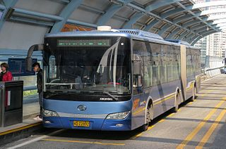 Xiamen BRT bus system in Xiamen, China