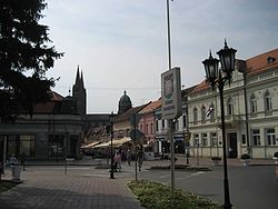 Center of city