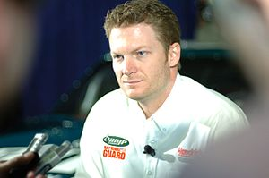 2011 Budweiser Shootout - Dale Earnhardt, Jr. picked the pole position for Hendrick Motorsports.