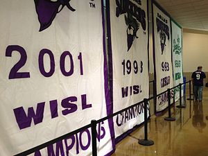 Dallas Sidekicks (1984–2004) - Championship banners on display at the Allen Event Center on November 30, 2012.