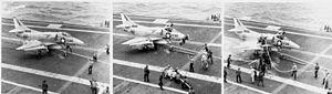 Damaged A-4C VA-34 landing on USS Intrepid (CVS-11) 1967.jpg