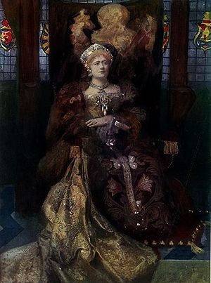 Lyceum Theatre, London - Ellen Terry as Katherine in Henry VIII
