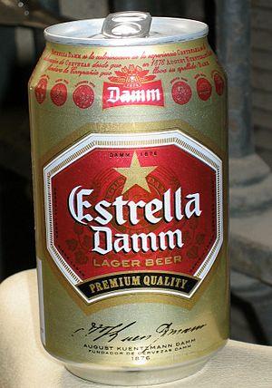 "Estrella Damm, a ""damm"" good Spanish..."