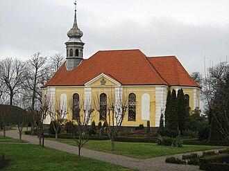 Damsholte Church - Damsholte Church: the only Rococo village church in Denmark