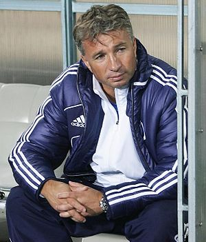 Dan Petrescu - Petrescu as Dynamo Moscow manager in 2012