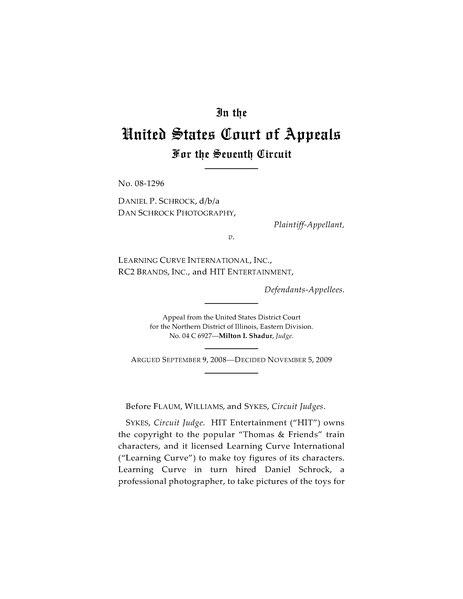 File:Daniel Schrock v. Learning Curve International, Inc. 7th Cir. 08-1296.djvu