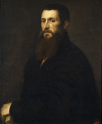 Daniele Barbaro - Painting of Daniele Barbaro by Titian.