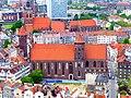 Danzig - Blick von der Marienkirche auf die Nikolaikirche, die St.-Katharinen-Kirche und die Brigittenkirche - Blick von der Marienkirche auf die Nikolaikirche, die St.-Katharinen-Kirche und die Brigittenkirche - panoramio.jpg