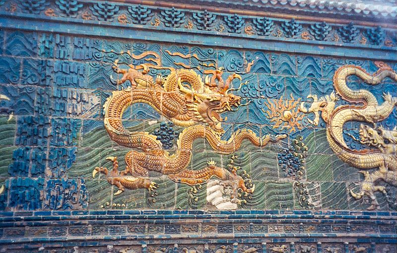 Dragones en la ciudad china de Datong