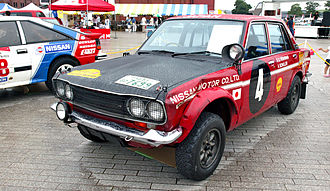 Datsun 510 - 1970 Datsun Bluebird 510, the winning car of the 18th East African Safari Rally