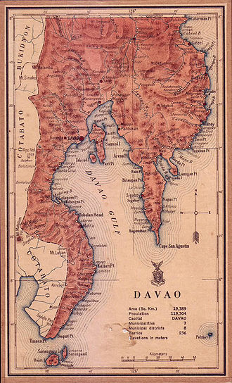 Davao Oriental - Davao province in 1918 encompassing the current provinces of Davao Region