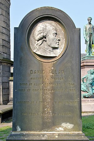David Allan (painter) - The headstone on David Allan´s grave in Edinburgh