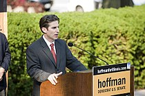 David Hoffman announcing his campaign for the US Senate, Springfield, Illinois - 20090910-02.jpg