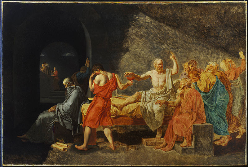 File:David and studio, Jacques-Louis, The Death of Socrates, after 1787.jpg