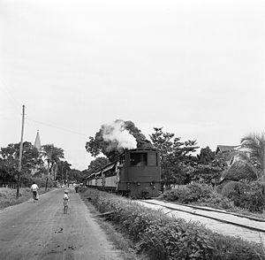 Lawa Railway - One of the Borsig steam locomotives
