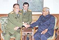 Defence Minister of China, Gen. Cao Gangchuan calls on the Prime Minister Shri Atal Bihari Vajpayee in New Delhi on March 29, 2004.jpg