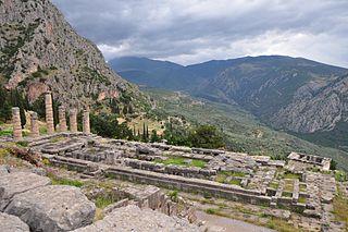 Temple of Apollo (Delphi) Ancient greek temple