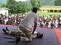 Demonstration of life saving techniques to school children.jpg