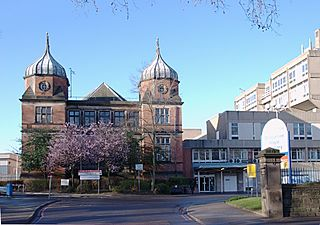 Derbyshire Royal Infirmary Hospital in Derby, England