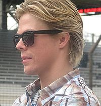Derek Hough 2009 Indy 500 Carb Day.JPG
