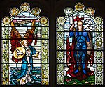 Derry Guildhall Great War Memorial Window 3 Lower Lights 2013 09 17.jpg