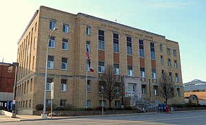 Des Moines County, Iowa - Image: Des Moines County Court House Burlington Iowa