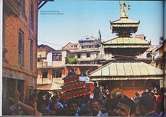 Dhulikhel - A scene during Dashain in the Bhagwati Jatra