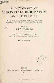 Dictionary of Christian Biography and Literature (1911).djvu