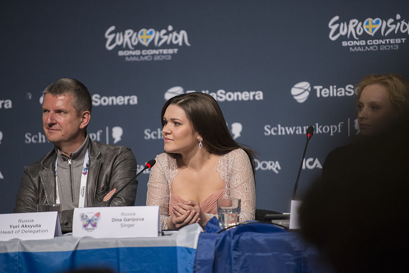 Dina Garipova, ESC2013 press conference 02.jpg