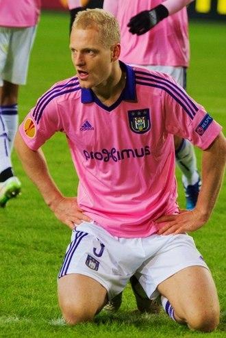 Olivier Deschacht - Deschacht with Anderlecht in 2015