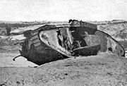 Disabled Tank Gaza 1917