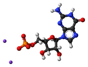 Disodium guanylate - Image: Disodium guanylate 3D ball