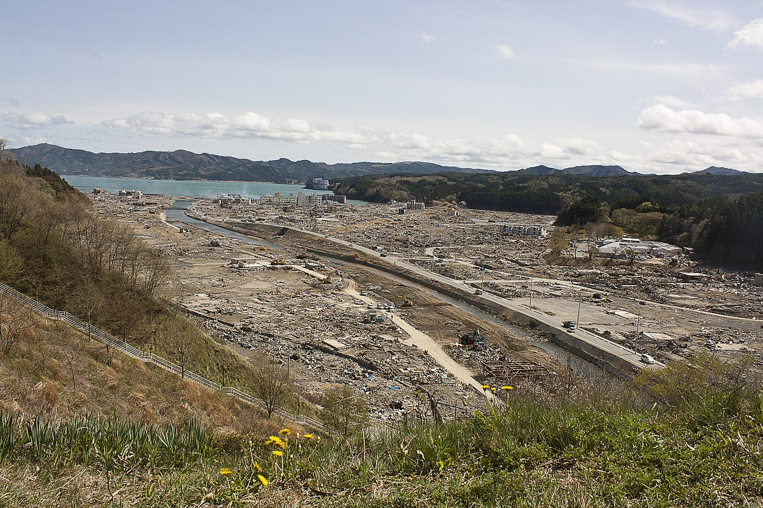 Distant view of Shizugawa after tsunami.jpg