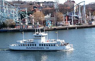 Djurgården ferry - Djurgården ferry, with Gröna Lund behind
