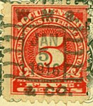 Documentary stamps of the U.S. Internal Revenue Service- five cents, Woods Mobilette Comp. 1915 (cropped).jpg