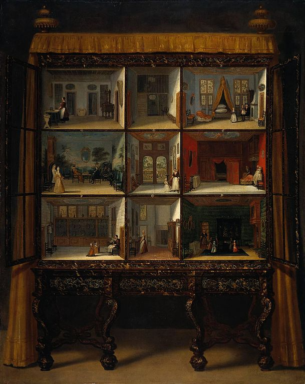 Painting of Oortman's doll house