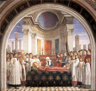 Collegiate Church of San Gimignano - The Funeral of Santa Fina Domenico Ghirlandaio