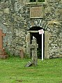 Doorway to the Agnew aisle, Leswalt Old Church - geograph.org.uk - 1725623.jpg