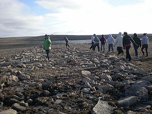 Dorset culture - Remains of a Dorset stone longhouse in Cambridge Bay, Nunavut