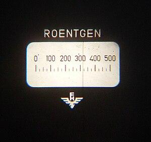 Dosimeter - Image: Dosimeter ablesung