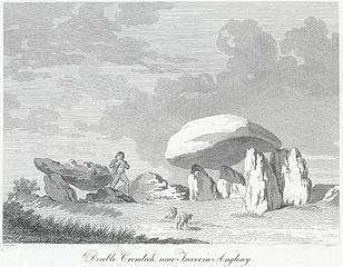 Double cromlech, near Trevor in Anglesey
