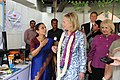 Dr. Balakrishnan Describes How the Clean Cookstoves Function to Secretary Clinton and Ambassador Verveer.jpg