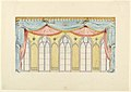 Drawing, Window Decoration, Probably for the East Wall of the Music Room, Royal Pavilion, Brighton, 1820 (CH 18609783-2).jpg