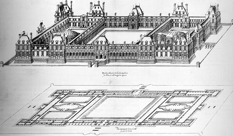 File:Drawing of an enlarged project of 1578 to 1579 for the Tuileries, by Jacques Androuet du Cerceau.jpg