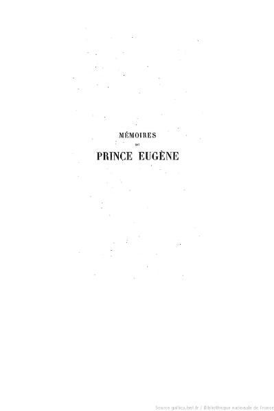 File:Du Casse - Mémoires et correspondance politique et militaire du prince Eugène, tome 1.djvu